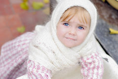 Portrait of the small beautiful girl Royalty Free Stock Image