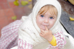 Portrait of the small beautiful girl Royalty Free Stock Photos