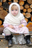 Portrait of the small beautiful girl Stock Images