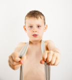 Portrait of a small boy Royalty Free Stock Photos