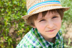 Portrait of the small boy in summer day Stock Photo