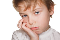 Portrait small child, fatigue Stock Images