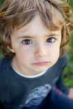 Portrait of a small child in the field Royalty Free Stock Photo