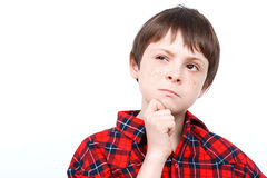 Portrait of a small emotional boy Royalty Free Stock Photography