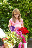 Portrait of small flower shop owner Stock Photography
