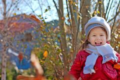 Portrait of the small girl Royalty Free Stock Photography