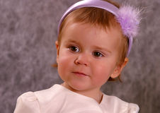 Portrait of the small girl royalty free stock photo