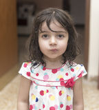 Portrait of small girl. Small girl in vintage style Royalty Free Stock Images