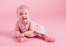 Portrait of the small joyful girl Royalty Free Stock Image