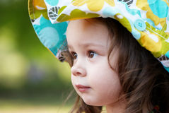 Portrait of the small nice girl. Royalty Free Stock Photos