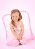 Portrait of the small princess in a pink dress Royalty Free Stock Images