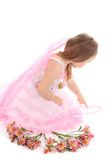 Portrait of the small princess in a pink dress Stock Photography