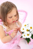Portrait of the small princess in a pink dress Stock Images