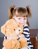 Portrait of the small smiling girl Royalty Free Stock Photography