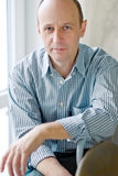 Portrait of smart bald man wearing a shirt Royalty Free Stock Photos