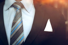Portrait of smart business man close up wearing formal suit and. Tie Royalty Free Stock Photography