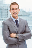 Portrait of smart businessman in suit Stock Photos