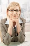 Portrait of smart businesswoman Royalty Free Stock Image