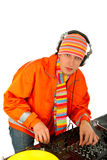 Portrait of smart deejay Royalty Free Stock Photo