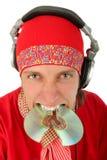 Portrait of smart deejay Stock Photos