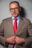 Portrait of smart entrepreneur wearing glasses Royalty Free Stock Images