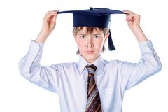 Graduating student boy Royalty Free Stock Image