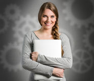 Portrait of smart student female Royalty Free Stock Photography