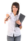 Portrait Of Smart Student Girl. Stock Photography