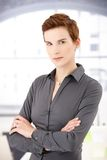 Portrait of smart woman Royalty Free Stock Photos