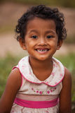 Portrait of smile asian poor girl Stock Image