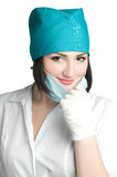 Portrait of smile doctor in mask Stock Image