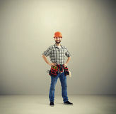Portrait of smiley builder Stock Image