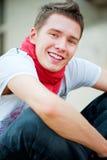 Portrait of smiley guy Royalty Free Stock Photos