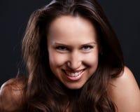 Portrait of smiley woman Stock Photos