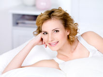 Portrait of smilin woman relaxing Stock Photo