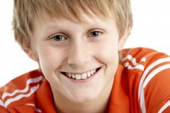 Portrait Of Smiling 12 Year Old Boy royalty free stock image