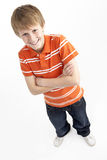 Portrait Of Smiling 12 Year Old Boy Stock Photos