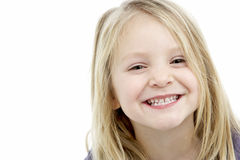 Portrait Of Smiling 4 Year Old Girl royalty free stock images