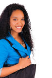 Portrait of smiling African American female student Stock Images