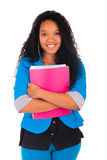 Portrait of smiling African American female student Royalty Free Stock Photos