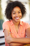 Portrait Of Smiling African American Woman Royalty Free Stock Images