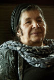 Portrait of smiling arab grannie Stock Photo