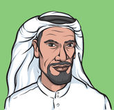 Portrait of a smiling arab. Vector illustration portrait of a smiling arab. Easy-edit layered vector EPS10 file scalable to any size without quality loss Stock Image