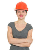 Portrait of smiling architect woman Stock Photos
