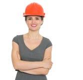 Portrait of smiling architect woman Stock Photos