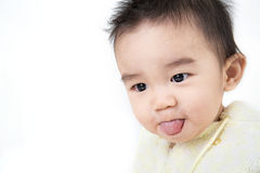 Portrait of smiling asian cute baby Stock Photos