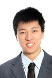 Portrait of smiling asian man Stock Photography