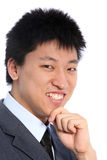 Portrait of smiling asian man Royalty Free Stock Image