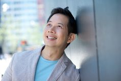 Portrait of a smiling asian man Stock Images