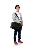 Portrait of a smiling asian man standing Stock Photography